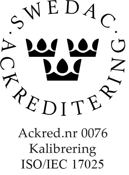 17025K Ackrediteringsmärke 0076 Svart