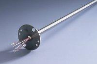 (4). Mätinsats förberedd för  senare montage av plint eller transmitter.