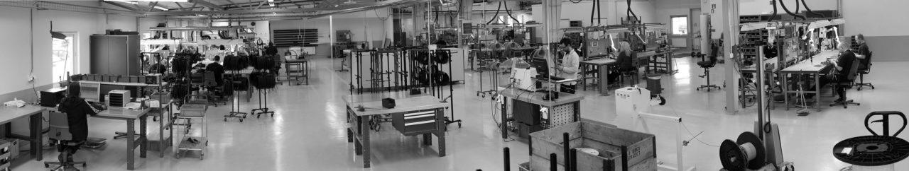 Pentronics produktionsyta har ökats i flera etapper. Här  sker montering av underdetaljer till färdiga Pt100-givare och termoelement.