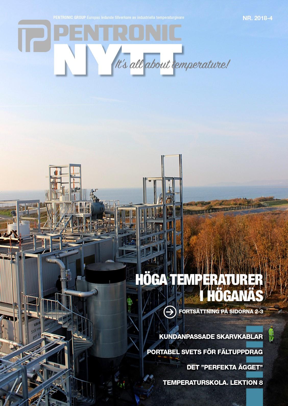 PentronicNytt 2018-4 innehåller bland annat reportage om Cortus nya gasanläggning i Höganäs och tekniken WoodRoll®