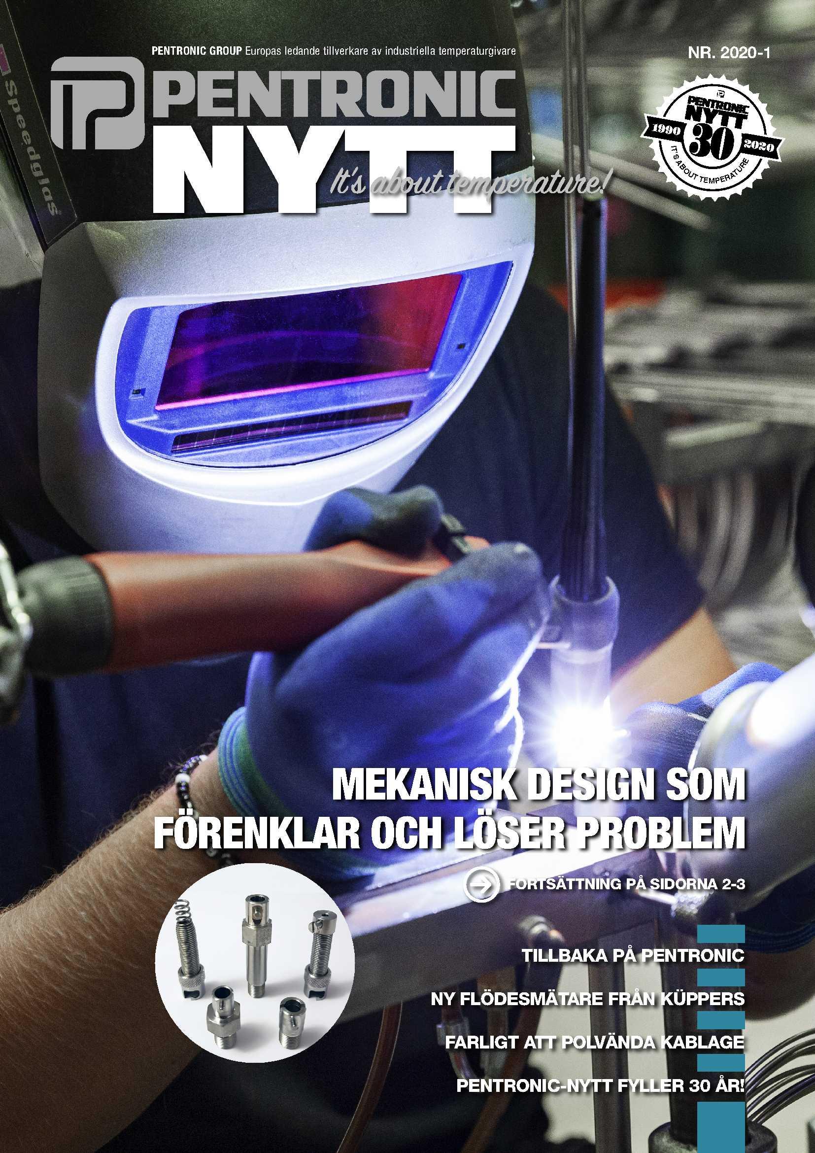 """PentronicNytt 2020-1 bjuder bland annat på tips om """"Mekanisk design som förenklar och löser problem""""."""
