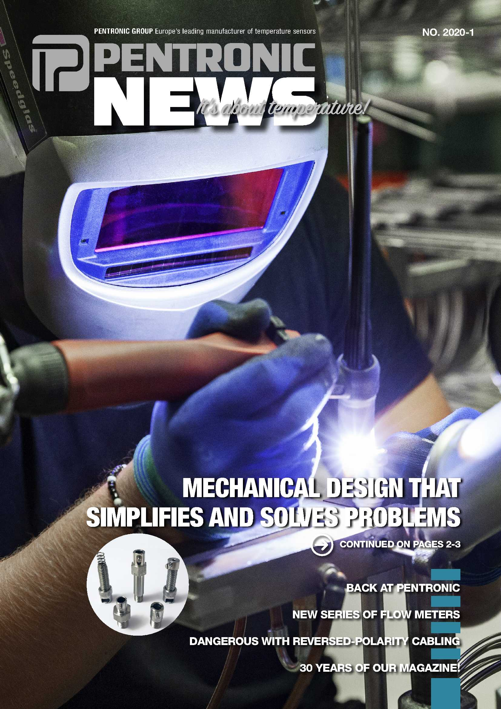 """Pentronic News 2020-1 includes tips about """"Mechanical design that simpifies and solves problems""""."""