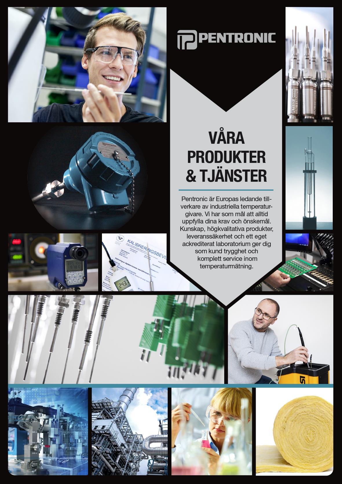Bild på broschyre om Pentronics Produkter & Tjänster